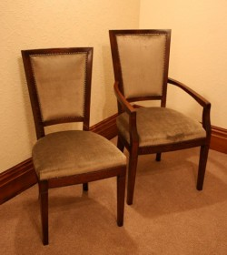 Lyon Upholstered Chair and Carver