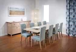 Tuscano Extension Table and Buttonback Chairs