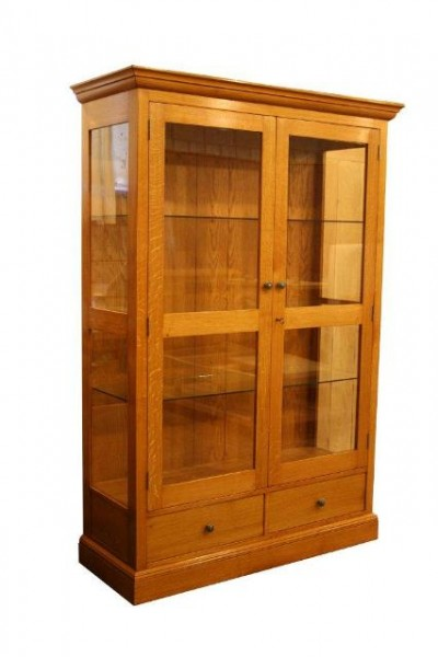 Glazed Oak Wall Cabinet