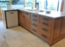 Bespoke Oak Kitchen and Stools
