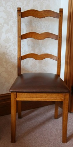 Marseille Ladderback with Leather Seat